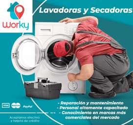 Reparacion mantenimiento lavadoras secadoras todas las marcas servicio tecnico