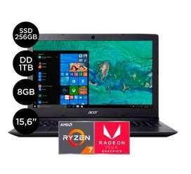 "Laptop Acer Aspire 3 15.6"" ryzen 7 1tb 8gb radeon 2gb"