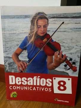 Desafíos comunicativos 8 editorial Santillana.