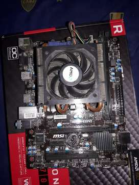 Vendo completo *Placa madre A68HM-E33 V2, Procesador AMD A10 5800K, memoria ram 8gb*