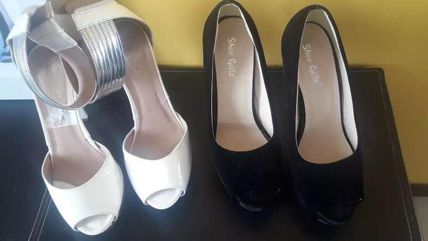 Vendo zapatos altos en 36/37 0