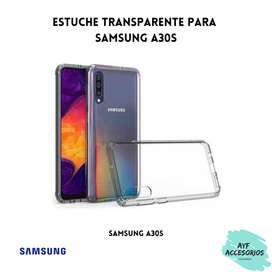 Estuche Para Samsung A30S Transparente Rígido