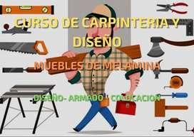 Curso de carpintería ( muebles de melamina)