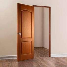 FABRICAMOS sus puertas en madera maciza, con garantia