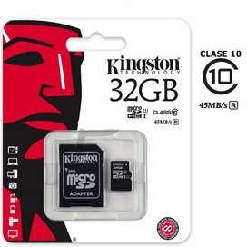 MEMORIA MICRO SD 32GB CLASE 10 PARA CELULAR