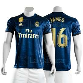 Nueva Camiseta Real Madrid Original Visitante Hazard  james rodriguez19-20