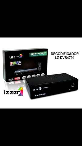 Decodificador TV Digital Terrestre TDT marca Lazer. Con opción a WiFi solo YouTube