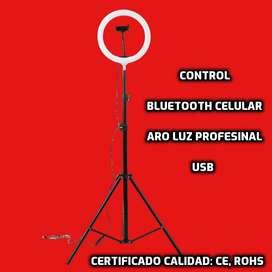 Trípode TIKTOK Bluetooth y aro luz profesional