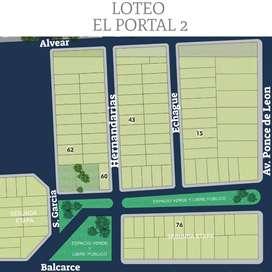 """LOTES """"EL PORTAL 2"""""""