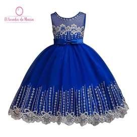 Vestido Azul Brillante