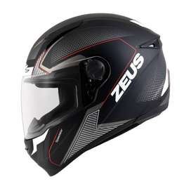 Casco Zeus 811 AL6 Matte Negro/Rojo para Motociclistas