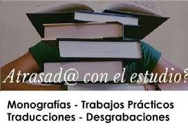 AYUDA ESCOLAR Desgrabaciones Monografías Trabajos Prácticos Traducciones