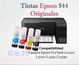 Tinta Epson Original 544 De 65ml Pack De 4