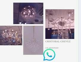 Instalación de lámparas, limpiezas, cambios de lugar mantenimientos