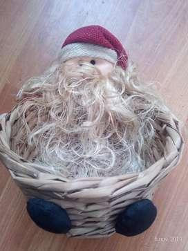 Canasta Navideña Papá Noel