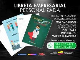 Libretas Empresariales personalizadas