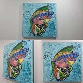 Lindo cuadro mariposa