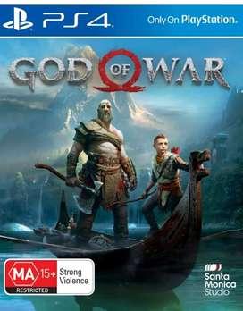 Juego ps4 play station 4 fisico como nuevo god of war