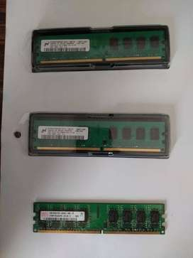 memorias DDR2 nuevas y usadas de 1 y 2GB