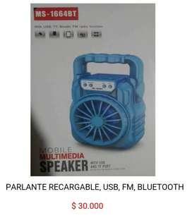Bafle parlante cabina reproductor de sonido audio musica altavoz con radio fm lector memoria usb micro sd bluetooth
