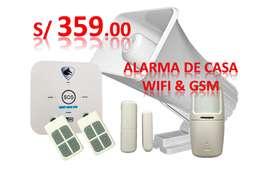 Alarma De Casa Gsm Y Wifi Siren30w Modelo Fox: smart Home GSM