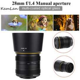 Lente NUEVO Kamlan 28mm F/1.4 APS-C para Fujifilm X-Mount