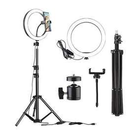 Aro De Luz Led Flash 26 Cm para Fotografía y Selfie Con Trípode disponible para entrega Inmediata
