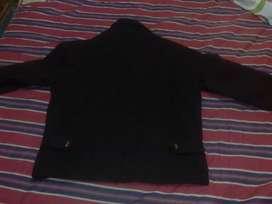 Campera de paño negra