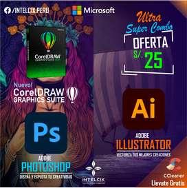 Sacale Provecho a tu Computadora del Grandioso Photoshop + el sublime Illustrator junto a corel draw