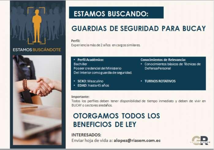 GUARDIAS DE SEGURIDAD PARA LA CIUDAD DE BUCAY 0