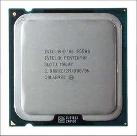 Intel Pentium E5500 Caché De 2 M, 2,80 Ghz, Fsb De 800 Mhz