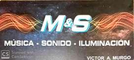 M & S SONIDO - MÚSICA - ILUMINACIÓN - BANQUETE