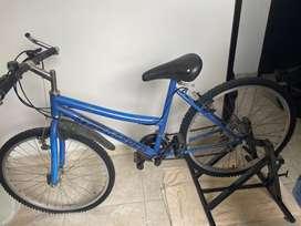 Bicicleta montañera + base estatica