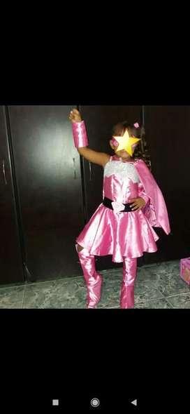 Disfraz de super barbie