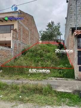 Terreno en Venta Sector Racar Plaza de 130 metros