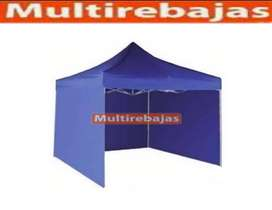 Carpa 3x3 Con Paredes Plegable Impermiable Calidad Premium