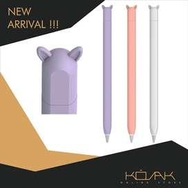 Estuche Case Cover Funda  Forro Skin Apple Pencil 2da Gen morado rosado blanco