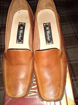 Zapatos oficina cuero guante