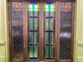 Hermosa Puerta en Vitral hecho a mano