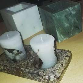 Todo en marmol para decorar tu hogar .