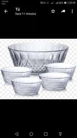 Set de bowls en vidrio por 5