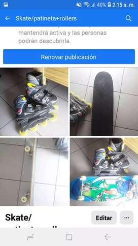 Skate/patineta y rollers