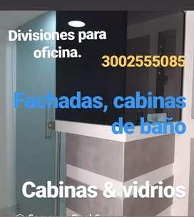 Divisiones de oficina y baños