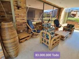 Sala en bambú