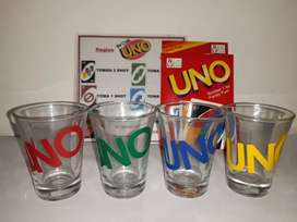 Juego Uno Drink 4 shots
