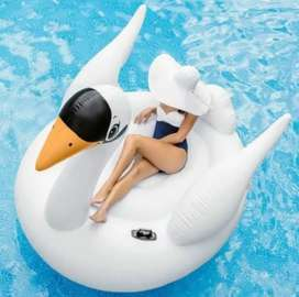 Flotador Cisne Inflable Gigante Piscina Intex