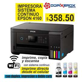 IMPRESORA EPSON L4160 CON WIFI SISTEMA CONTINUO Y DUPLEX