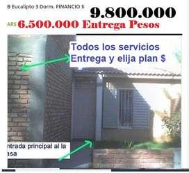 Casa San luis C/Dorm.aloj.Eco. Financiada $ 14.500.000 Entre 7.500 saldo Ctas $ actual.