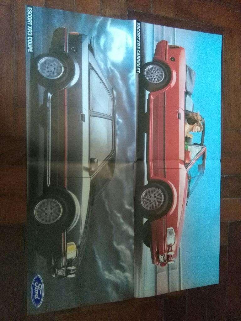 Poster lamina Ford Escort Cabriolet Y Coupe 1992 tamaño 54 x 40 cm 0