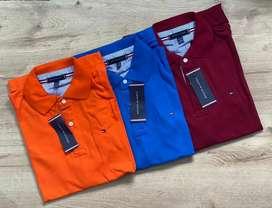 COLECCIÓN de camisetas TOMMY DE *CABALLEROS  BOTONES labrados, CHIC original TALLAS 2XL, 3XL, TELA ( pike reactivó)